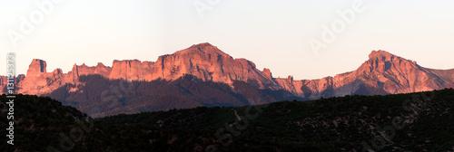 Photo  The Cimarron Mountain Range at Sunset