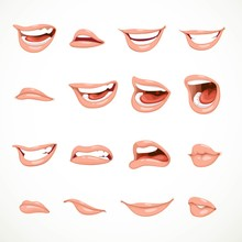 Female's Mouth To Express Diff...