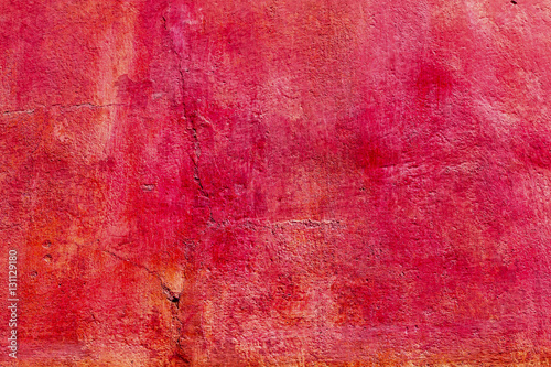 Photo Bright Red Orange Wall San Miguel de Allende Mexico