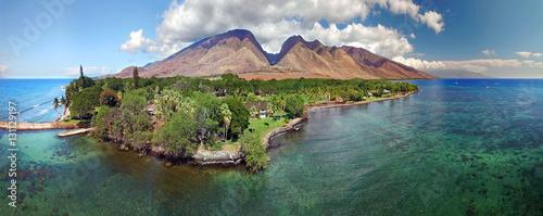 Fotografia Drone Aerial Panoramic - Island of Maui - Hawaii