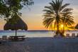 Beach sunset in Curacao a Caribbean Island