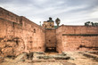 Inside the ancient palace of Bab Agnaou, one of the main attractions of Marrakesh in Morocco