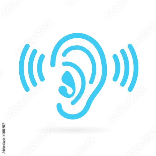 Ear listen vector icon Wallpaper Mural