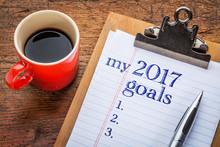 My 2017 Goals On  Clipboard