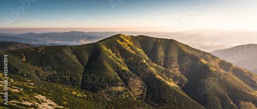 Keuken foto achterwand Heuvel Hill at Sunset. Low Tatras Mountains, Slovakia