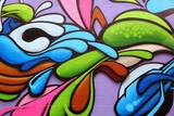 Fototapeta Teenage - Colorful graffiti art