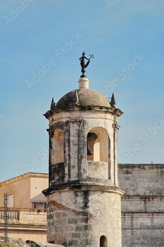 Havana, Cuba: watchtower of Castillo de la Real Fuerza
