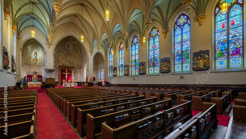Photo sur Toile Edifice religieux Saints Peter and Paul Catholic Church in Chattanooga, Tennessee