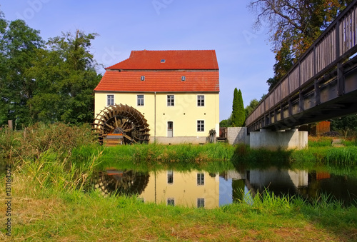 Plessa Elstermuehle - the old  watermill in Plessa, Lusatia
