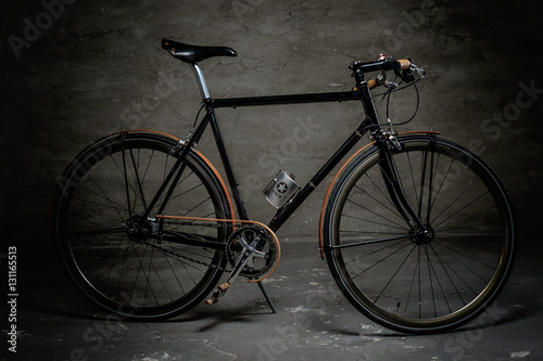 Staande foto Fiets Vintage single speed hipster's bicycle.