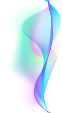 Abstract Colorful Creative Wave Line Background.