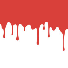 Red Paint Dripping. Blood Flow...