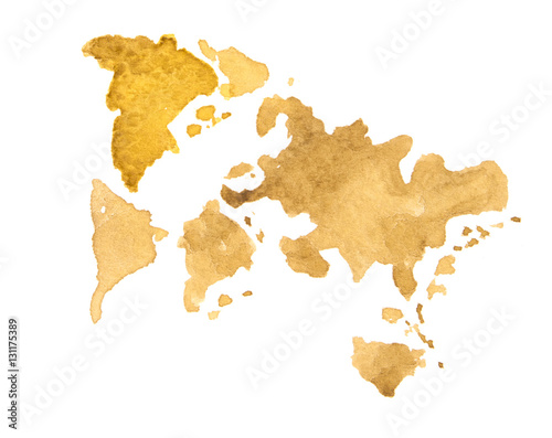 World Map watercolor, abstract. Not a real map of the world – kaufen ...