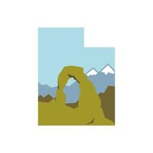 Utah National Park Logo Template. Logo Vector.