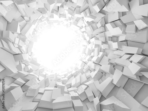 Abstract digital background, 3 d tunnel Canvas Print