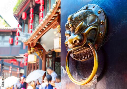 Photo  Gate lion decoration