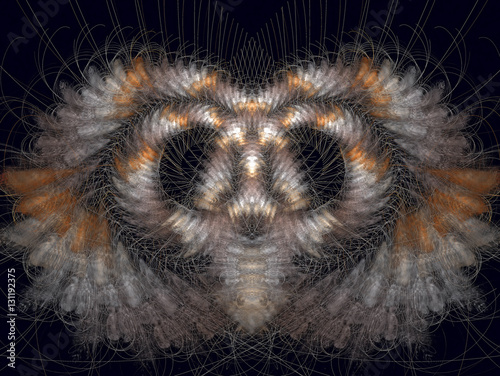 Staande foto UFO UFO. Abstract Magic energy multicolored fractal. 3D rendering.