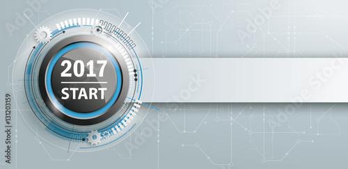 Poster  2017 Start Button Circuit Board Banner