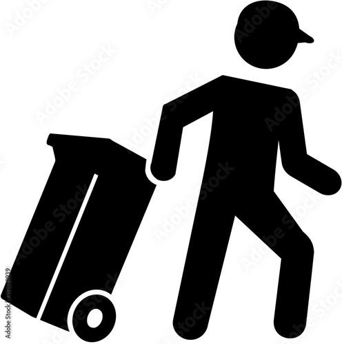 Garbage man pictogram