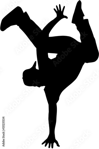 Láminas  Hip hop dancer silhouette
