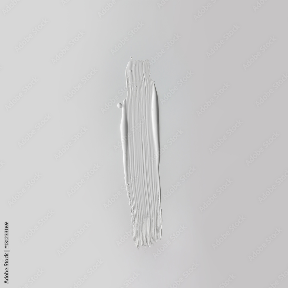 Fototapety, obrazy: White paint texture. Minimal flat lay concept.