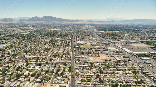 Poster Las Vegas Las Vegas Nevada - Aereal view