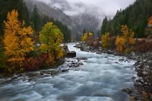 River Flow In Leavenworth, Washington
