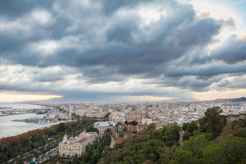 Fototapeta na wymiar Landscape view of Malaga