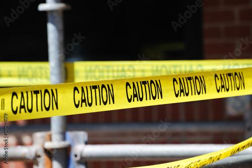 Fotografia  caution warning strip