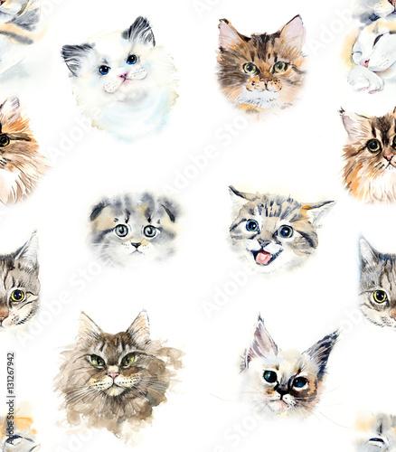 bezszwowy-wzor-z-kotami-i-rozami-ilustracja-akwarela-recznie-rysowane
