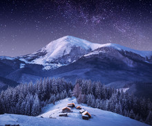 Mountain Village In Light Of R...