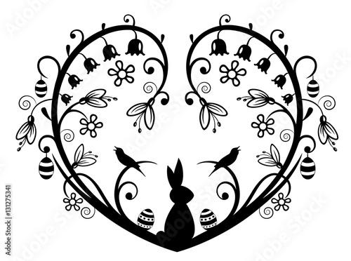 Schablone Herz Mit Schmetterlinge Auf A4 1