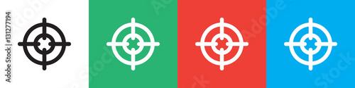 Fotografía  sniper target icon illustration