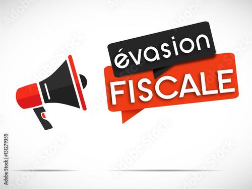 Fotografie, Obraz  mégaphone : évasion fiscale
