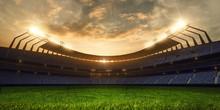 3d Render Emptry Stadium Evening