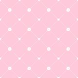 シンプルガーリーなかわいい薔薇とハートのシームレスパターン 背景素材 - 131280556