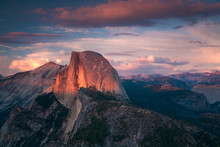 Halfdome Sunset Yosemite Calif...