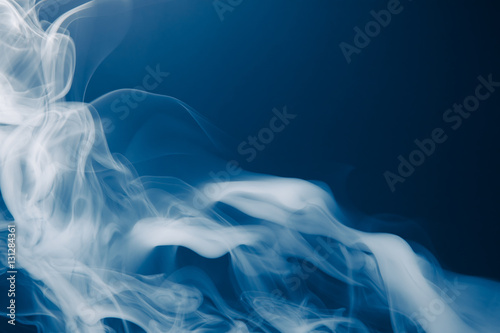 Poster Fumee blue smoke background