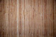 Bamboo Napkin Texture. Wood Stripes Background.