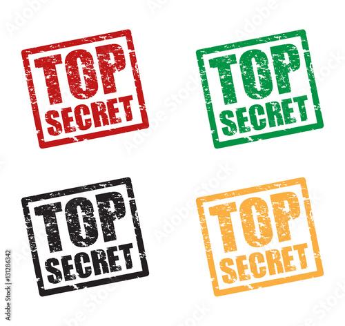 Photo  top secret set stamps