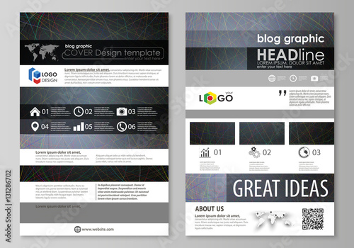 Blog graphic business templates. Page website design template ...