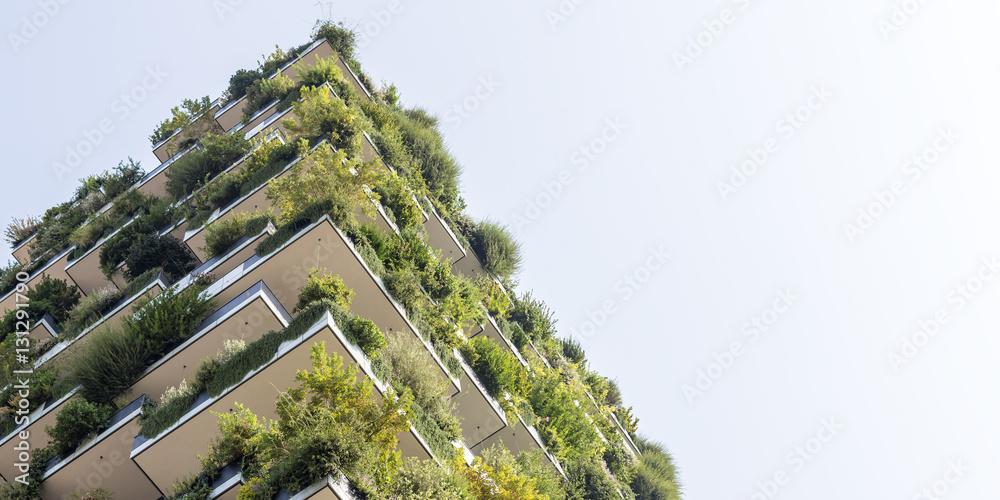 Fototapety, obrazy: Green futuristic skyscraper