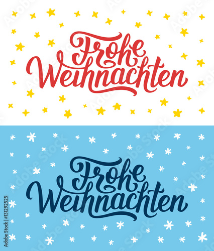 How Do You Say Merry Christmas In German.Merry Christmas Retro Flat Greeting Cards Or Flyers Set With