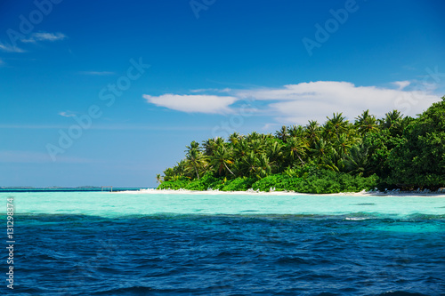 Staande foto Eiland Beautiful nature landscape of tropical island at daytime, Maldives