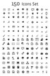 Leinwanddruck Bild - Set of 150 Icon Set
