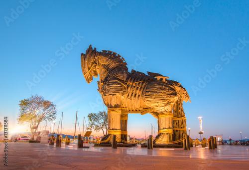 La pose en embrasure Turquie Trojan horse, Canakkale Turkey