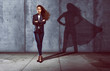 Leinwandbild Motiv Erfolgreiche Geschäftsfrau