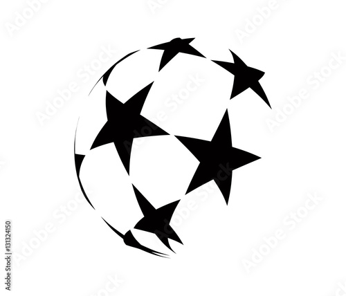 Foto Abstract logo with black stars.