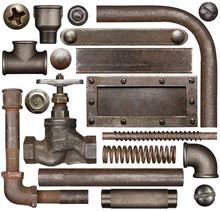 Dark And Rusty Industrial Design Elements