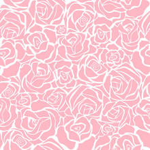 Seamless Retro Background With Pink Roses